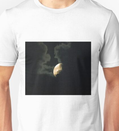 Supermoon Partly Hidden by Clouds Unisex T-Shirt