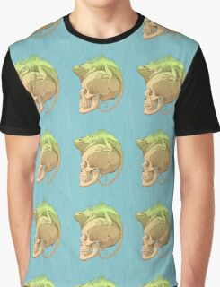 colorful illustration with iguana and skull Graphic T-Shirt
