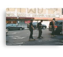 Skating through Chinatown Canvas Print