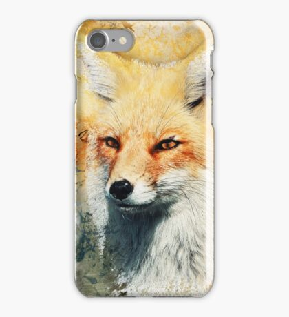 Fox - Pencils and Watercolour  iPhone Case/Skin