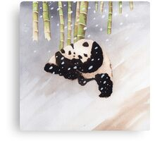 Pandas In The Snow Too Canvas Print