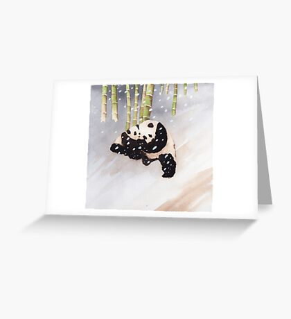 Pandas In The Snow Too Greeting Card