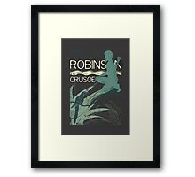 Books Collection: Robinson Crusoe Framed Print