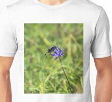 Six-Spot Burnet Moth on Round Headed Rampion Unisex T-Shirt