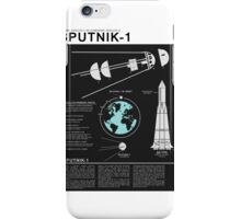 SPUTNIK-1 Infographics  iPhone Case/Skin