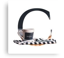 C for Coffee Canvas Print