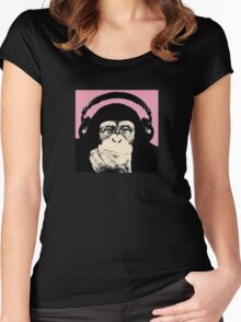 Monkey Music Women's Fitted Scoop T-Shirt