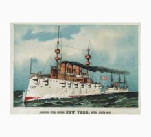 Armoured steel cruiser New York, United States Navy - 1893 - Currier & Ives One Piece - Short Sleeve