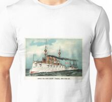 Armoured steel cruiser New York, United States Navy - 1893 - Currier & Ives Unisex T-Shirt