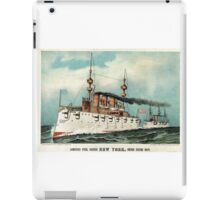 Armoured steel cruiser New York, United States Navy - 1893 - Currier & Ives iPad Case/Skin