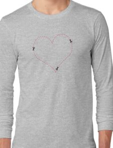 Dashed Heart Long Sleeve T-Shirt