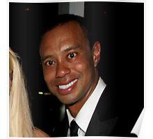 Tiger Woods - Drunk Smile Meme Funny Poster