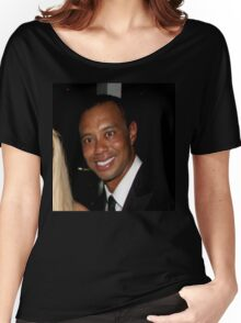 Tiger Woods - Drunk Smile Meme Funny Women's Relaxed Fit T-Shirt