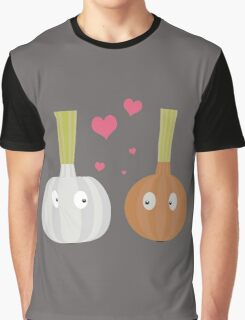 Garlic and Onion in love Graphic T-Shirt
