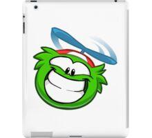 Green Funny Puffle iPad Case/Skin