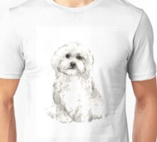 Maltese abstract dog poster Unisex T-Shirt