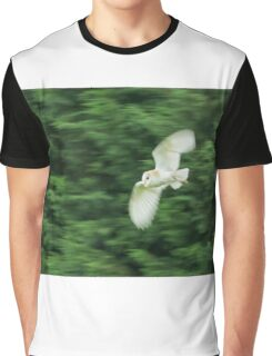 Barn Owl Motion Blur Graphic T-Shirt
