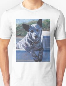 Blue Heeler Australian Cattle Dog Fine Art Painting Unisex T-Shirt