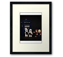 Knew we shouldn't have park on the Death Star  Framed Print