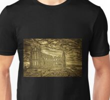 A digital painting of Whitby Abbey, Yorkshire, England Unisex T-Shirt