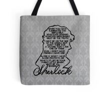 BBC Sherlock quote picture Tote Bag