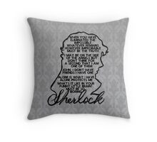 BBC Sherlock quote picture Throw Pillow