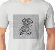 BBC Sherlock quote picture Unisex T-Shirt