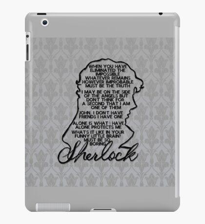 BBC Sherlock quote picture iPad Case/Skin