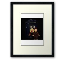 10th Doctor and Rose Framed Print