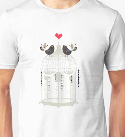 birds in a cage  Unisex T-Shirt