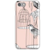 bird in the cage  iPhone Case/Skin