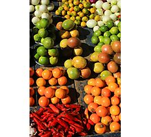 Fresh Fruits and Vegetables at the Market Photographic Print
