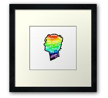 rainbow doctor who silhouette Framed Print