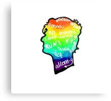 rainbow doctor who silhouette Metal Print