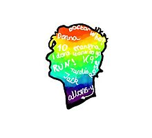 rainbow doctor who silhouette Photographic Print