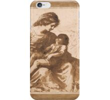 Giovanni Francesco Barbieri, called Il Guercino, Mother with Sleeping Child iPhone Case/Skin