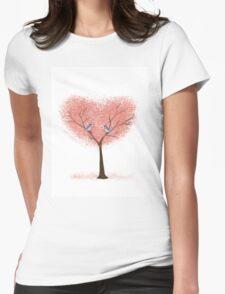 Bluebird Blossoms Womens Fitted T-Shirt