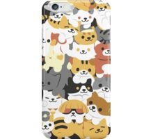 cat pile iPhone Case/Skin