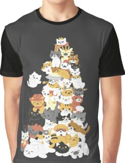 cat pile Graphic T-Shirt