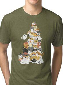 cat pile Tri-blend T-Shirt