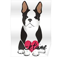 Je t'aime Frenchie Poster