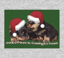 Vector Santa Paws Is Coming To Town Christmas Greeting One Piece - Long Sleeve