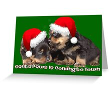 Vector Santa Paws Is Coming To Town Christmas Greeting Greeting Card