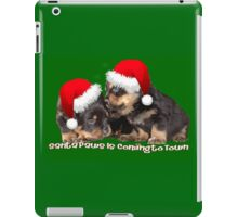 Vector Santa Paws Is Coming To Town Christmas Greeting iPad Case/Skin