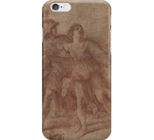Giovanni Francesco Barbieri, called Il Guercino,  Rinaldo Stopping Armida from Suicide iPhone Case/Skin