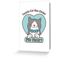 Tuxedo Cat Love Greeting Card