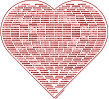 Binary Heart Photographic Print