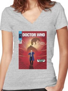 Gallifrey Falls, No More! Women's Fitted V-Neck T-Shirt