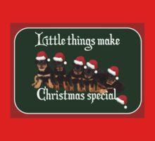 Little Things Make Christmas Special Vector Baby Tee