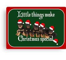 Little Things Make Christmas Special Vector Canvas Print